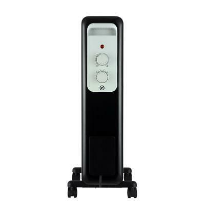 1,500-watt oil-filled radiant electric space heater with the